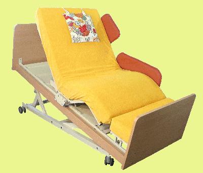 Pflegebett INDREA-T - das Sitzschlafbett oder Sitzbett