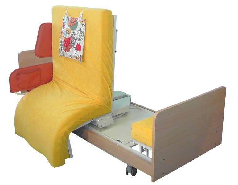 INDREA Aufsteh- und Pflegebett in Sitzposition