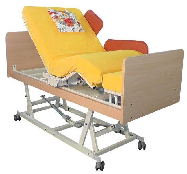 INDREA Aufsteh- und Pflegebett auf Pflegehöhe