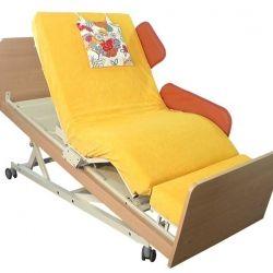 INDREA Aufsteh- und Pflegebett mit Trendelenburg-Lagerung als Zubehörfunktion